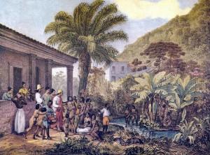 Índios em uma fazenda c. 1824