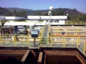 Estação de tratamento de água da Copasa em Coronel Fabriciano, onde é extraída e tratada a água fornecida a boa parte da Região Metropolitana do Vale do Aço.