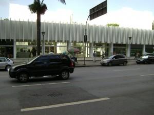 Fachada do Palácio das Artes de Belo Horizonte, um dos maiores núcleos culturais da América Latina.