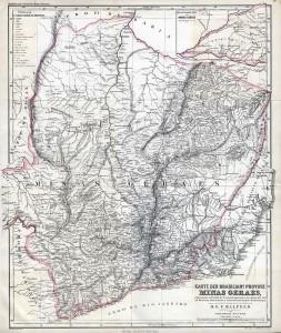 Mapa de Minas Gerais em 1865