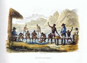 Lavra dos diamantes feita por escravos (autor desconhecido).