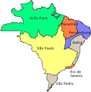 Mapa do Brasil no início do século XVIII