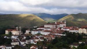 Vista do centro histórico de Ouro Preto.