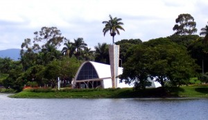 greja da Pampulha, criada por Oscar Niemeyer.
