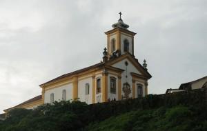 Igreja Nossa Senhora das Mercês e Misericórdia em Ouro Preto. O catolicismo é a religião predominante no Estado.