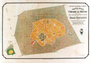 Planta de Belo Horizonte, uma das primeiras cidades planejadas do país