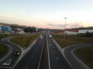 Trecho da Rodovia Fernão Dias próximo a Pouso Alegre.