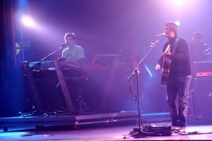Banda mineira Skank durante uma apresentação em 2007.