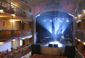 Interior do Teatro Municipal de Ouro Preto, que foi inaugurado no século XVIII e é o mais antigo do Brasil.