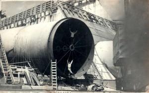 Tubulação utilizada para construção da Usina Hidrelétrica de Furnas