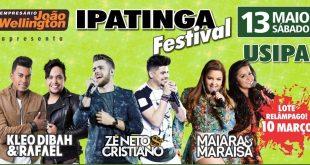 No último dia 13, Ipatinga foi sede do Festival Ipatinga