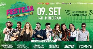 Mineirão comemora aniversário com o Festeja Belo Horizonte dentro do estádio