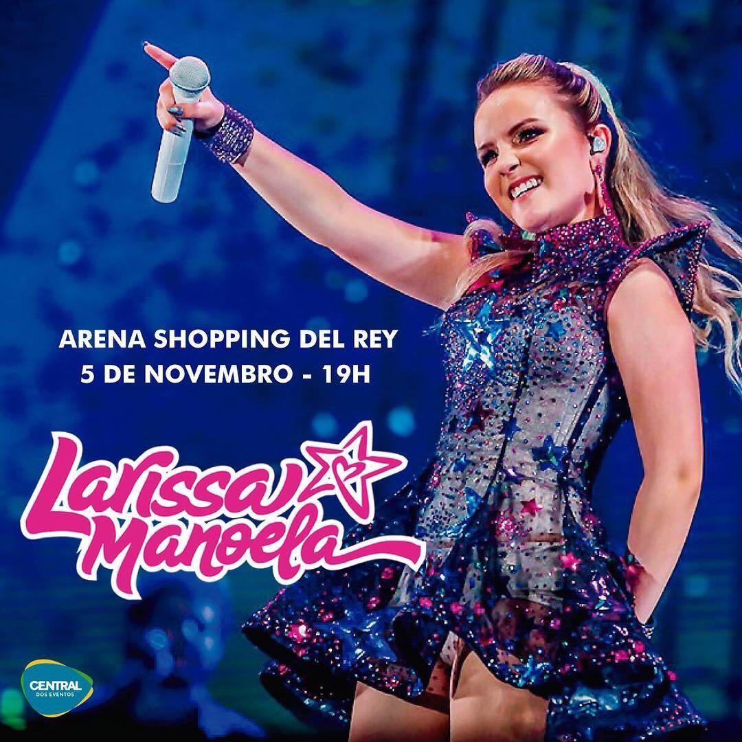 """A cantora e atriz Larissa Manoela, traz a Belo Horizonte, no domingo do dia  05 de novembro, às 19 00, a turnê """"UP"""", caracterizada pelo palco super  iluminado ... 69d67e015f"""