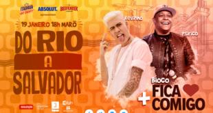 """""""Do  Rio a Salvador"""" traz para a BH uma mistura de ritmos de axé, pagode e funk, no dia 19, desse mês"""